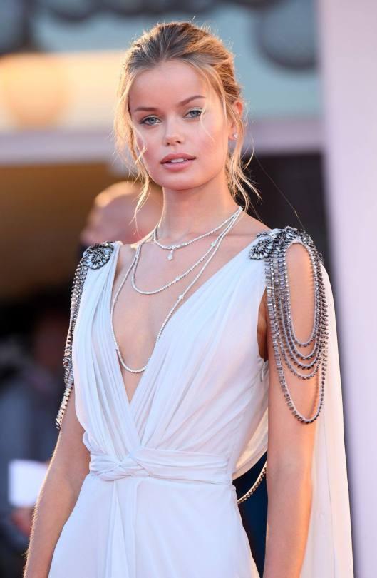 Fria Aasen In Beautiful Dress