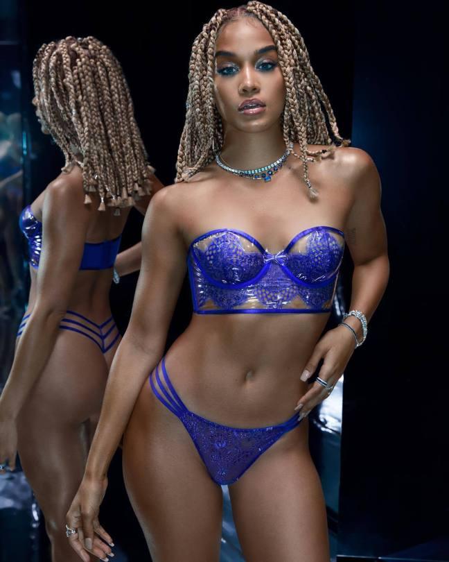 Jasmin Sanders Sexy Blue Lingerie
