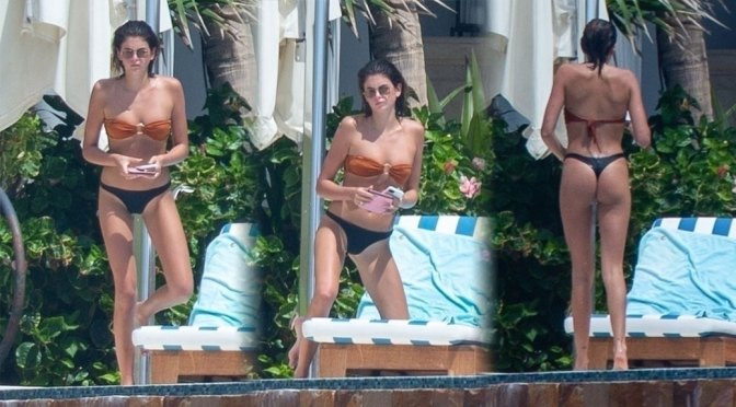 Kaia Gerber – Sexy Ass in Thong Bikini on Vacation in Cabo San Lucas