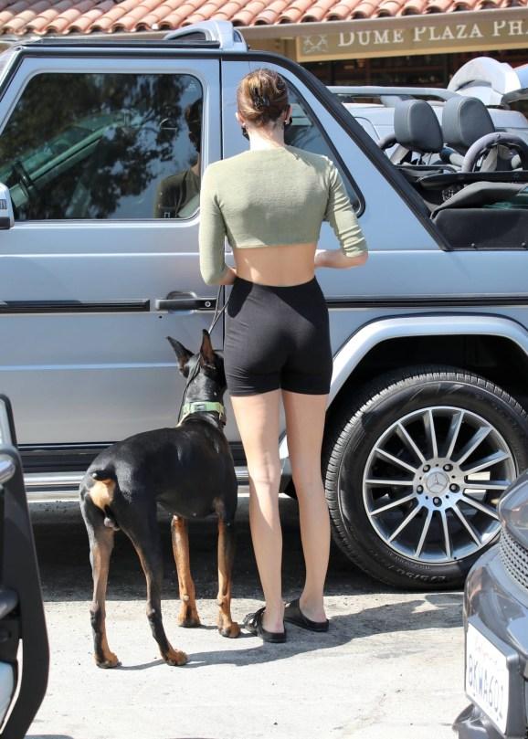 Kendall Jenner In Short Leggings
