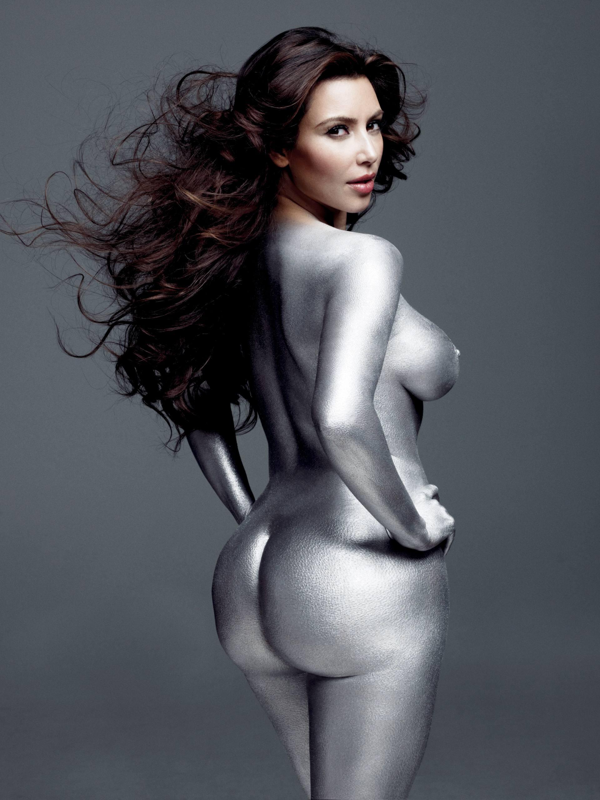 Kim Kardashian Naked Silverpaint