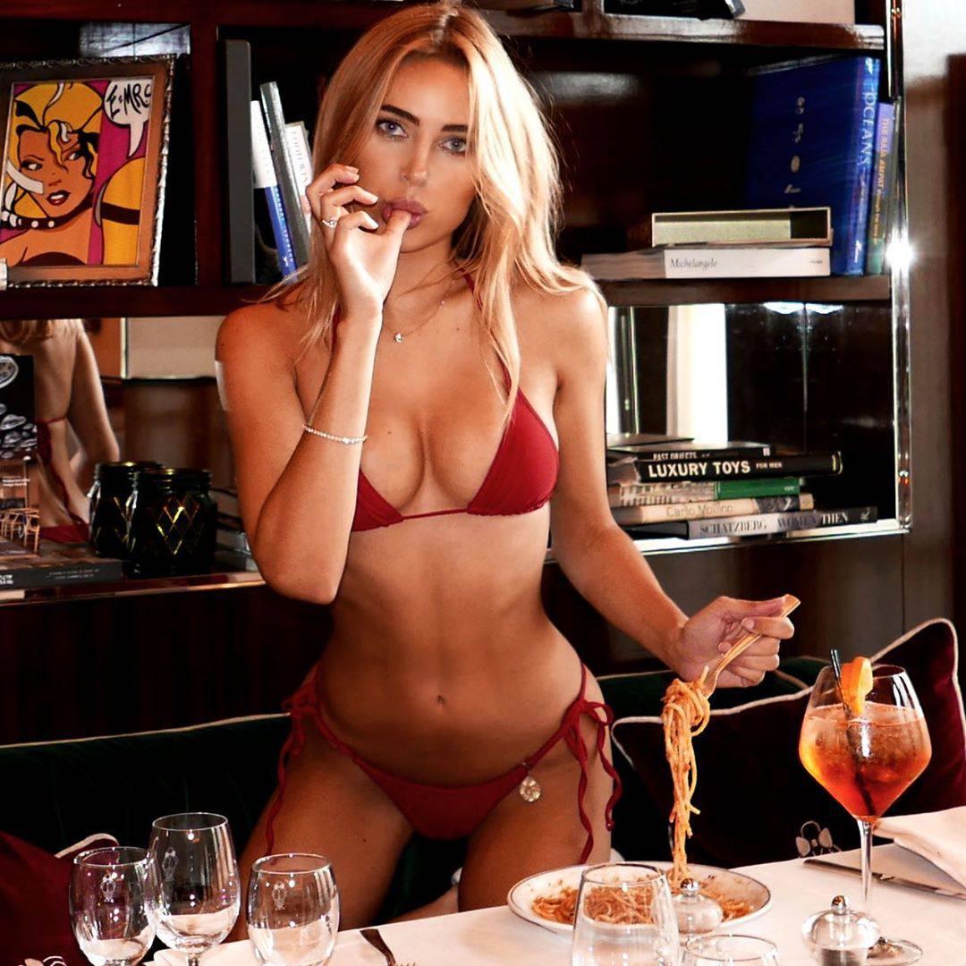 Kimberley Garner Perfect Body In Red Bikini