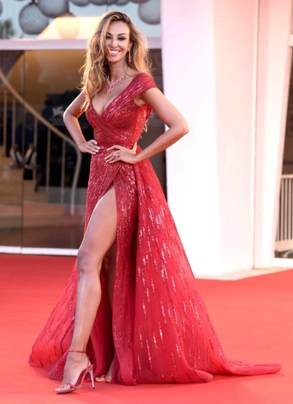 Madalina Ghenea Sexy Red Dress