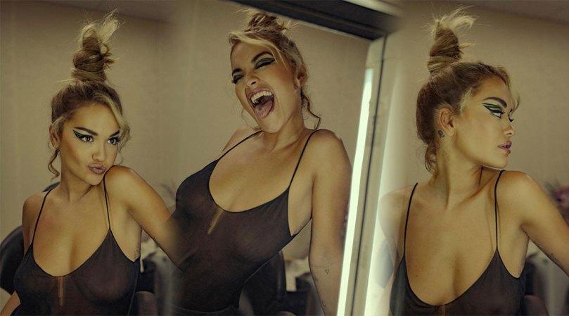 Rita Ora Braless Tits