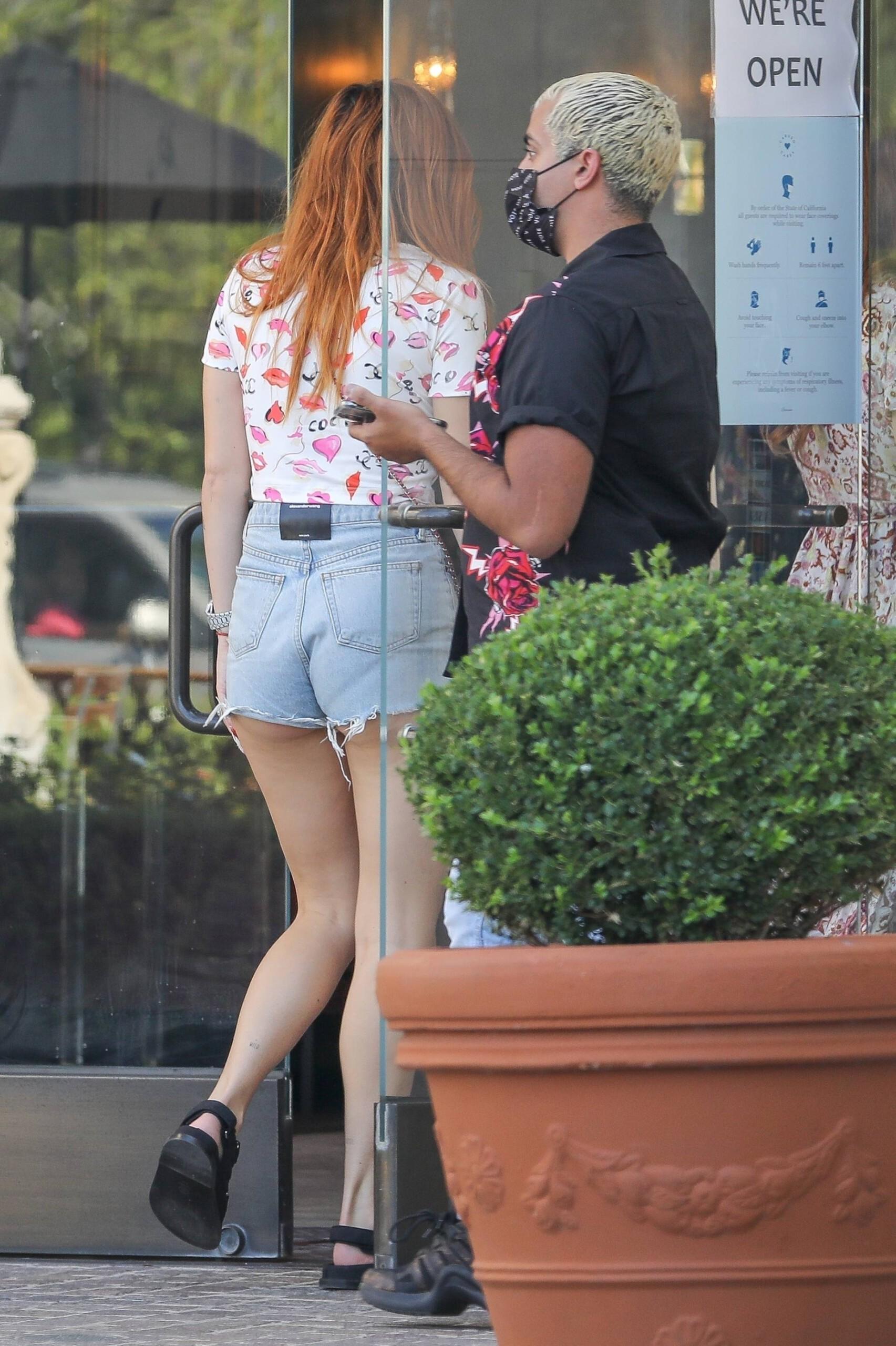 Bella Thorne Leggy In Shorts