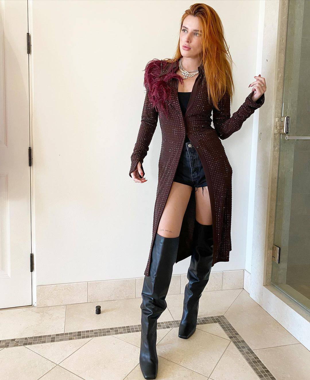 Bella Thorne In Boots