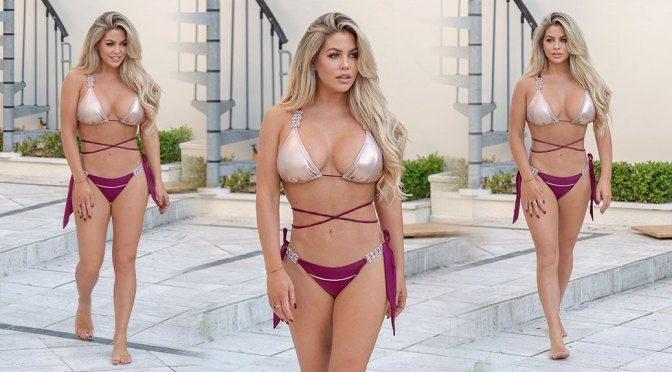 Bianca Gascoigne – Beautiful Big Boobs in Bikini on Vacation in Madeira