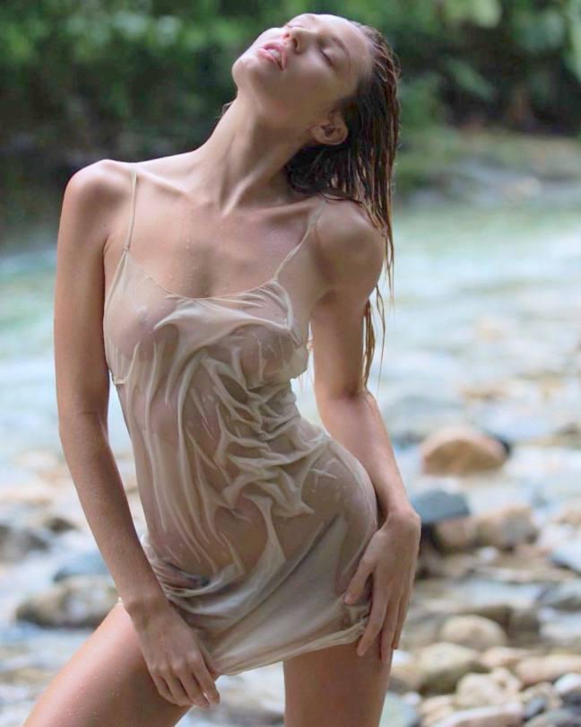 Candice Swanepoel Braless Pics