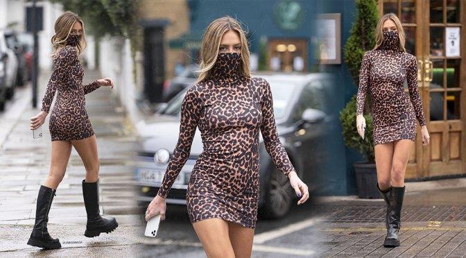 Delilah Belle Hamlin – Sexy Body in Tight Short Dress Out in London