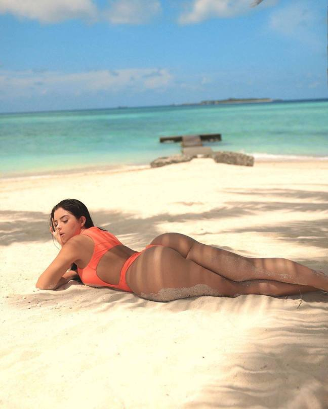 Demi Rose Mawby Sexy On Beach