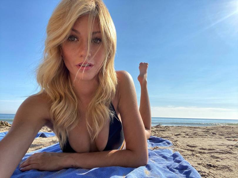 Katherine Mcnamara Sexy Boobs On Beach