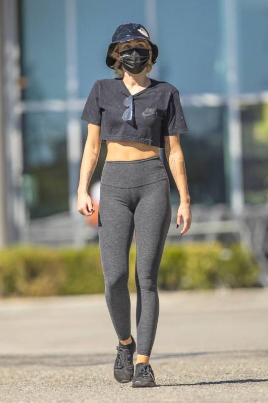 Miley Cyrus In Tight Leggings