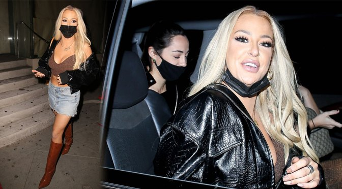 Tana Mongeau – Sexy Boobs at Catch LA in West Hollywood