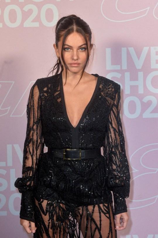 Thylane Blondeau Sexy Black Dress