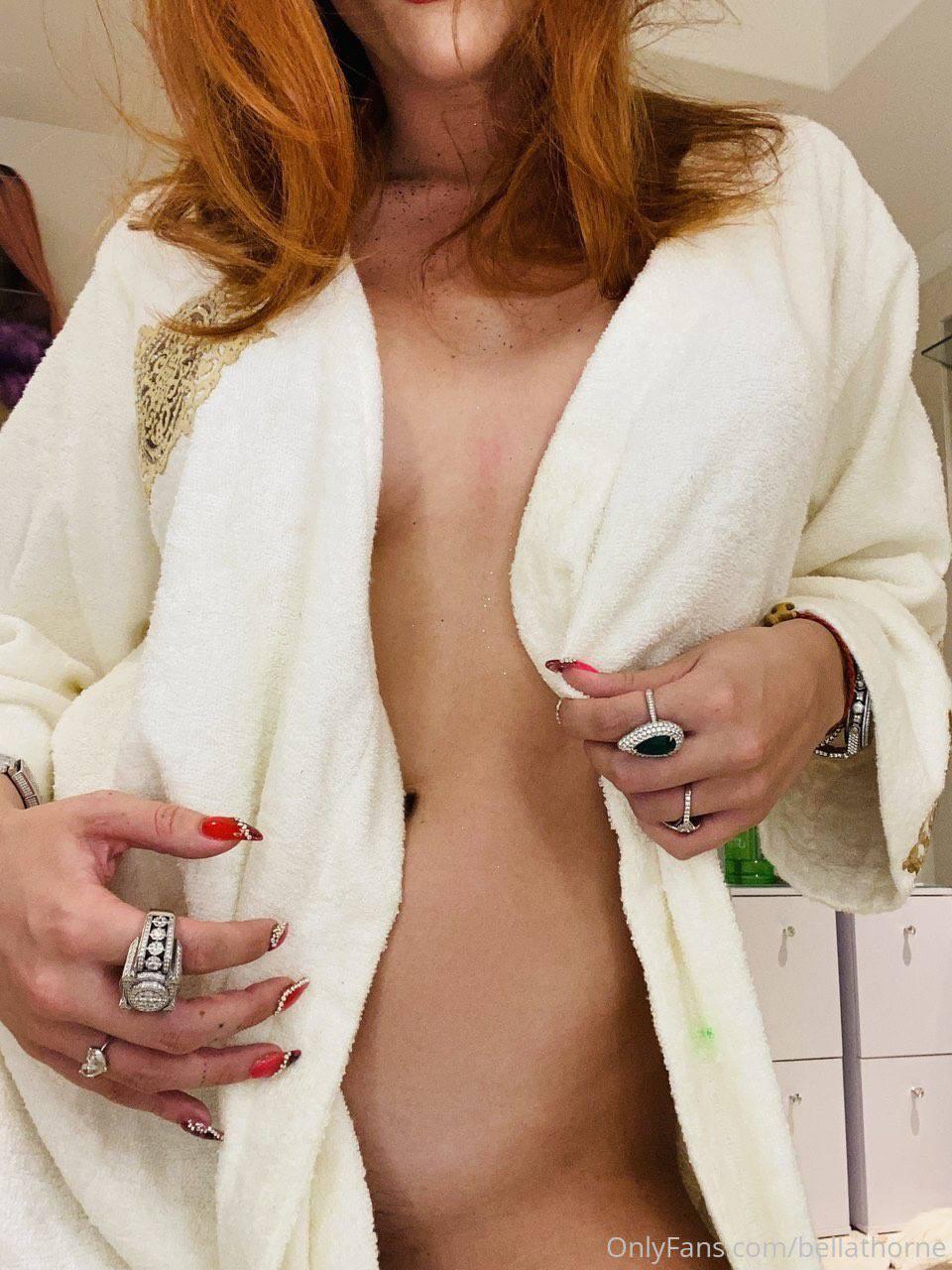 Bella Thorne Braless In Robe