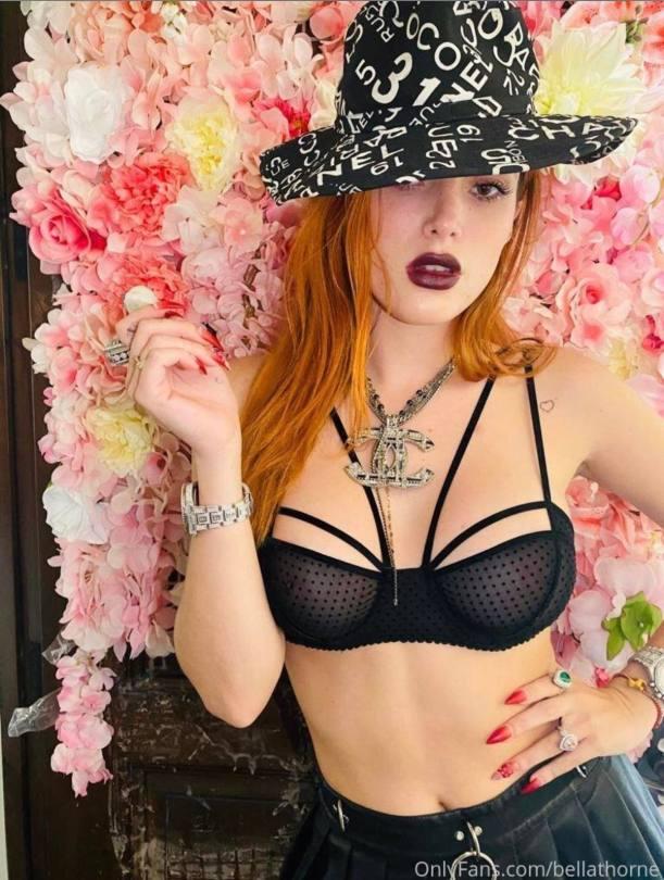 Bella Thorne Sheer Bra