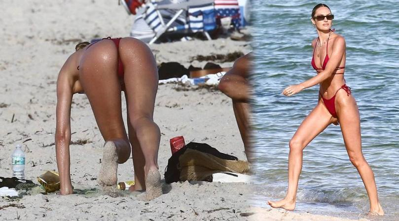 Candice Swanepoel Fantastic Ass In Bikini