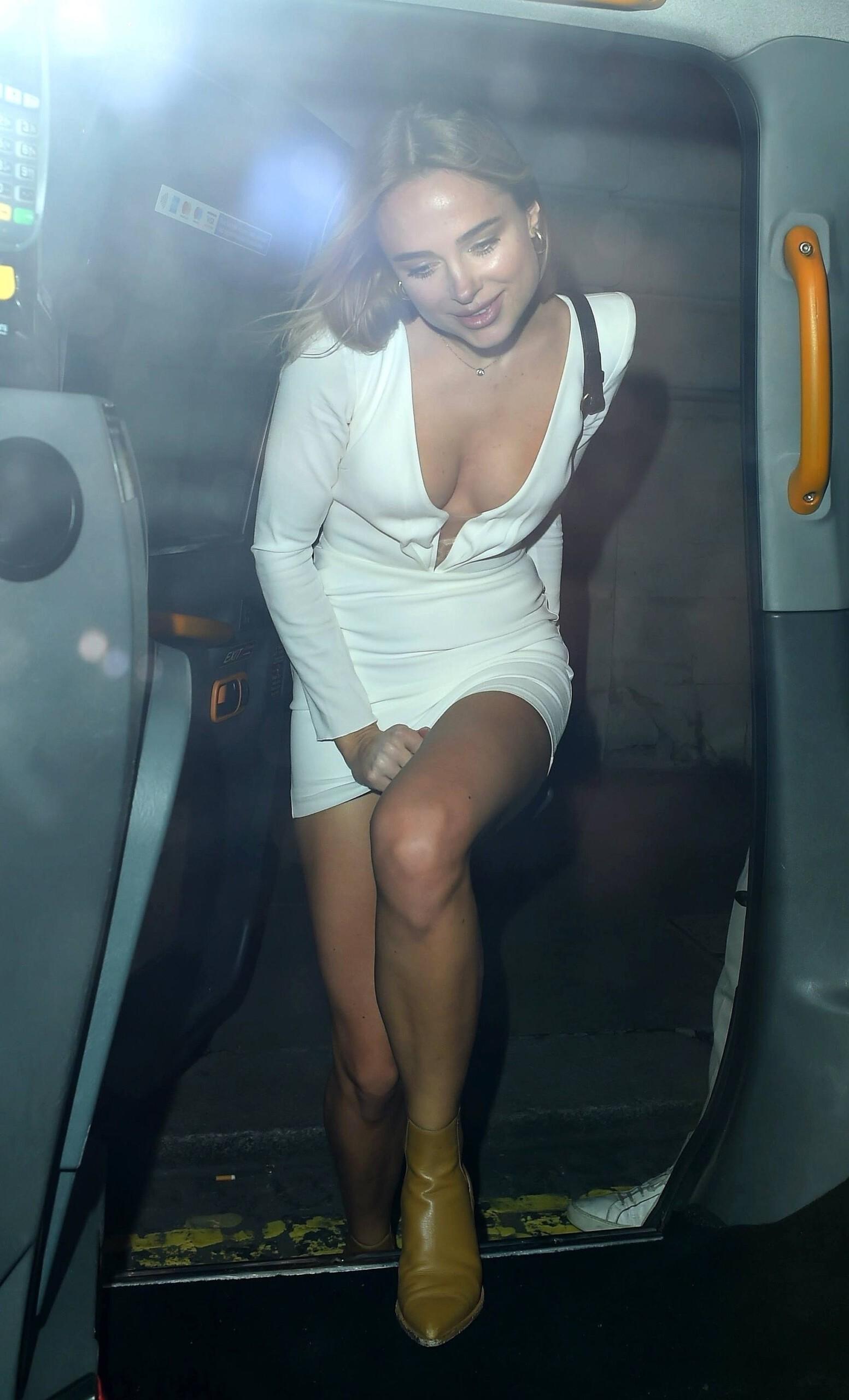 Kimberley Garner Sexy White Dress