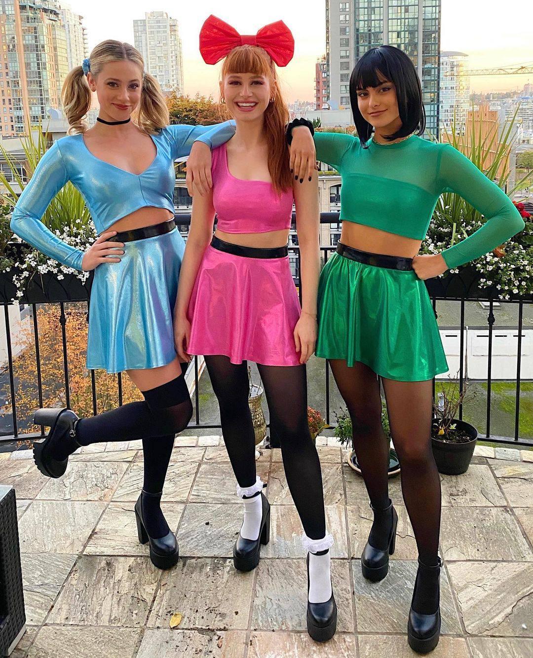 Lili Reinhart Madelaine Petsch Camila Mendes As The Powerpuff Girls