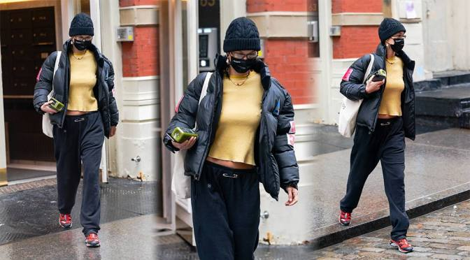 Bella Hadid – Sexy Braless Candids Out in New York