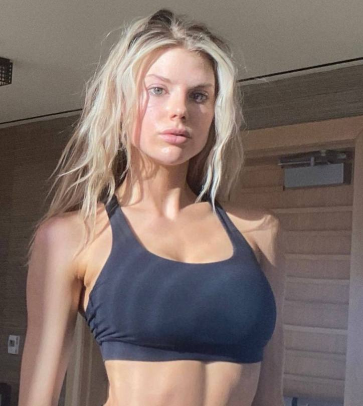 Charlotte Mckinney Sexy In Sports Bra