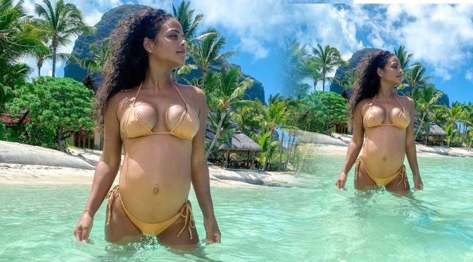 Christina Milian Pregnant Bikini Pokies and Other Sexy Links!