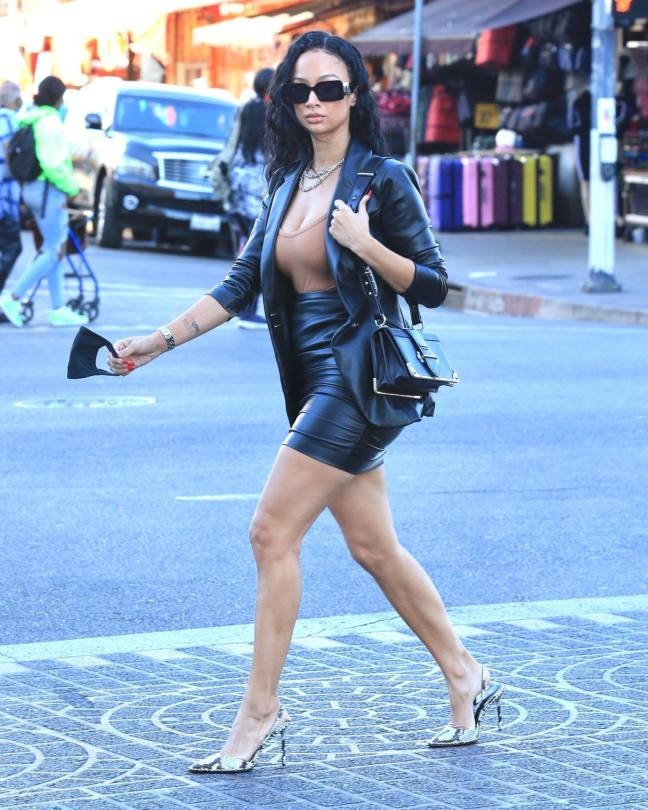 Draya Michele Sexy In Mini Skirt