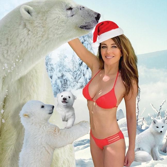 Elizabeth Hurley In Small Bikini