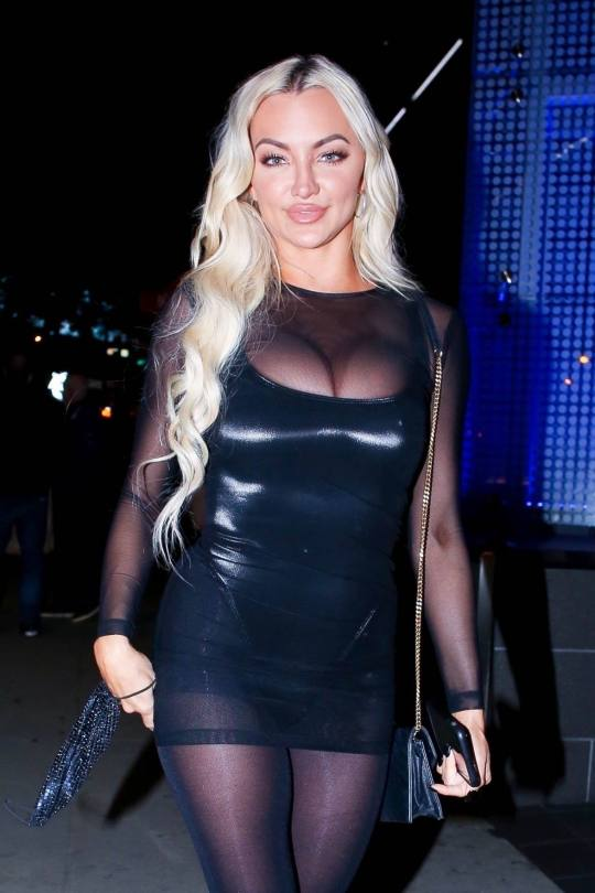 Lindsey Pelas Sultry Outfit