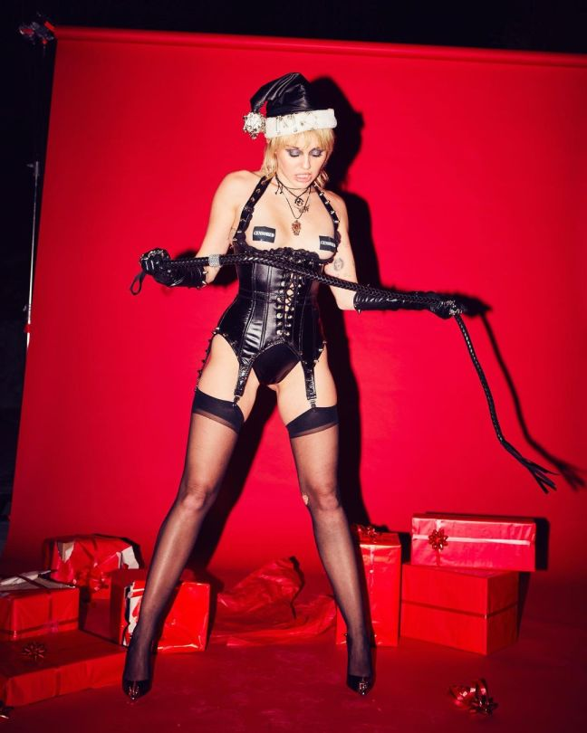 Miley Cyrus Sexy Dominatrix Outfit