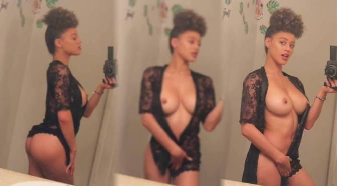 Stormi Maya – Beautiful Topless Tits in Sexy Selfie Video (NSFW)