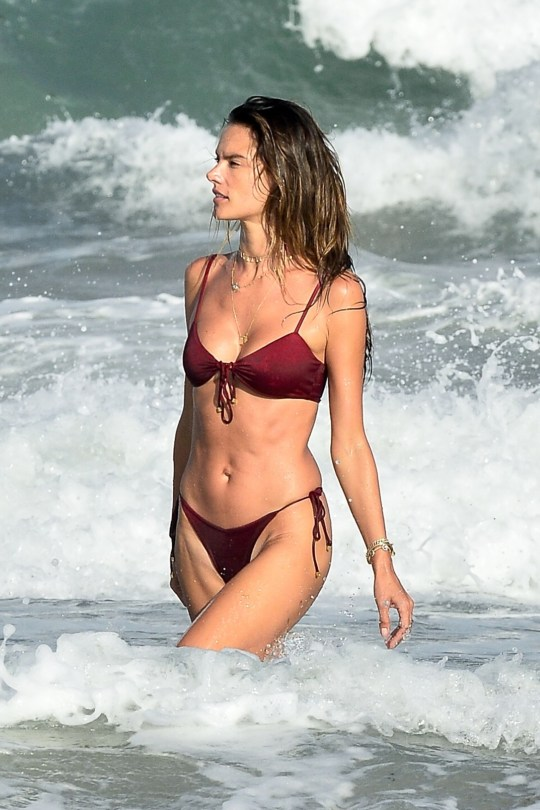Alessandra Ambrosio Sexy String Bikini