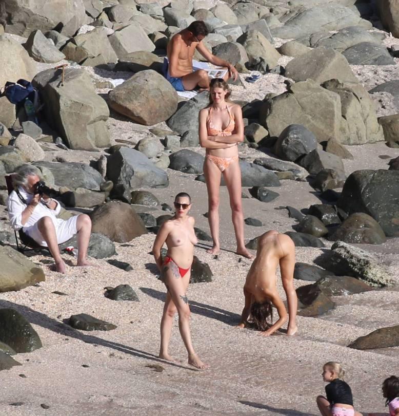 Alexis Ren Topless On Beach