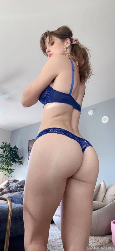 Amanda Cerny Blue Lingerie