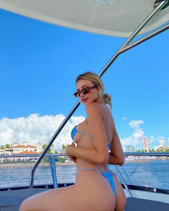 Gabby Epstein Tiny Blue Bikini