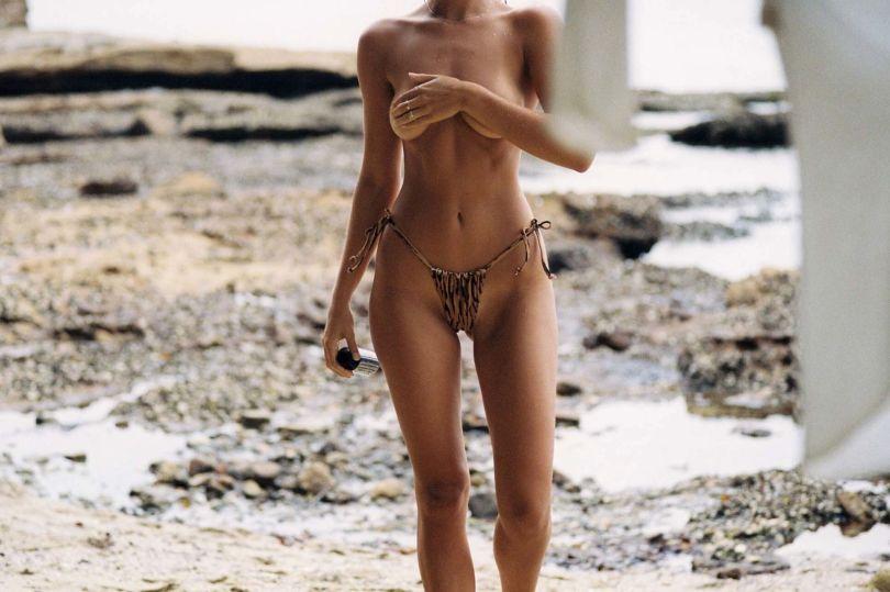 Kristina Mendoca Topless On Beach