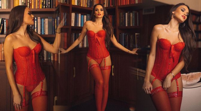 Madison Pettis – Exquisite Body in Sexy Red Lingerie for Savage x Fenty Winter 2021 Campaign