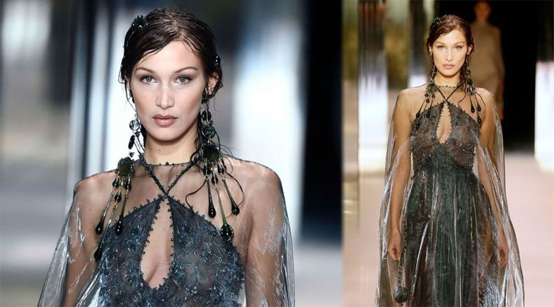 Bella Hadid In Sheer Dress