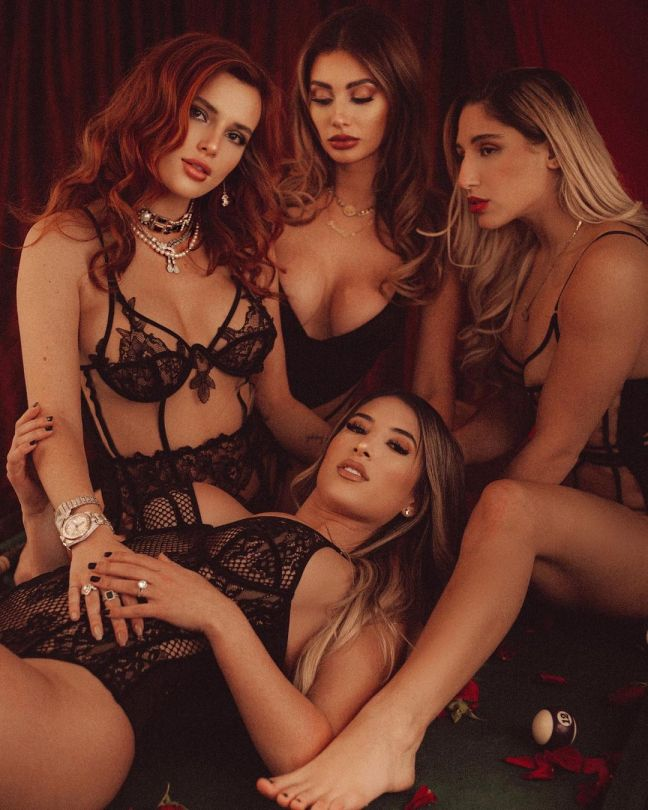 Bella Thorne Sexy In Lingerie With Girls