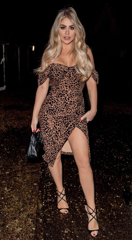 Bianca Gascoigne Sexy Dress