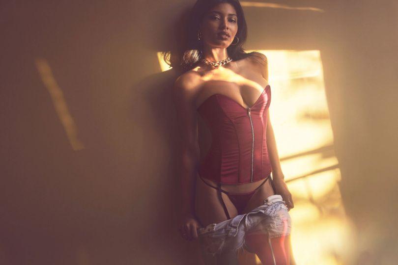 Danielle Herrington Sexy In Lingerie