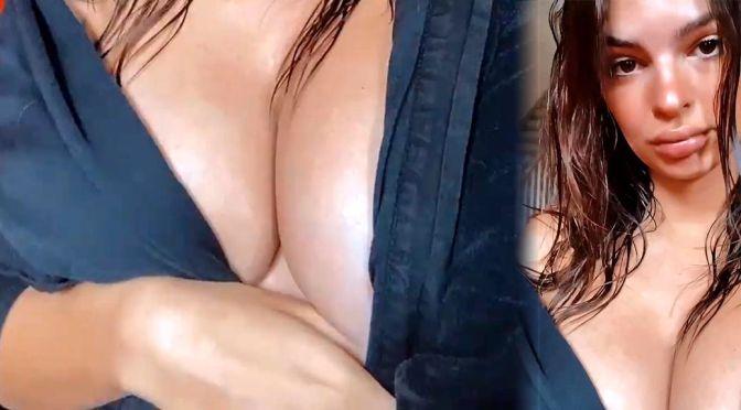 Emily Ratajkowski – Fantastic Big Boobs in a Sexy Busty Video