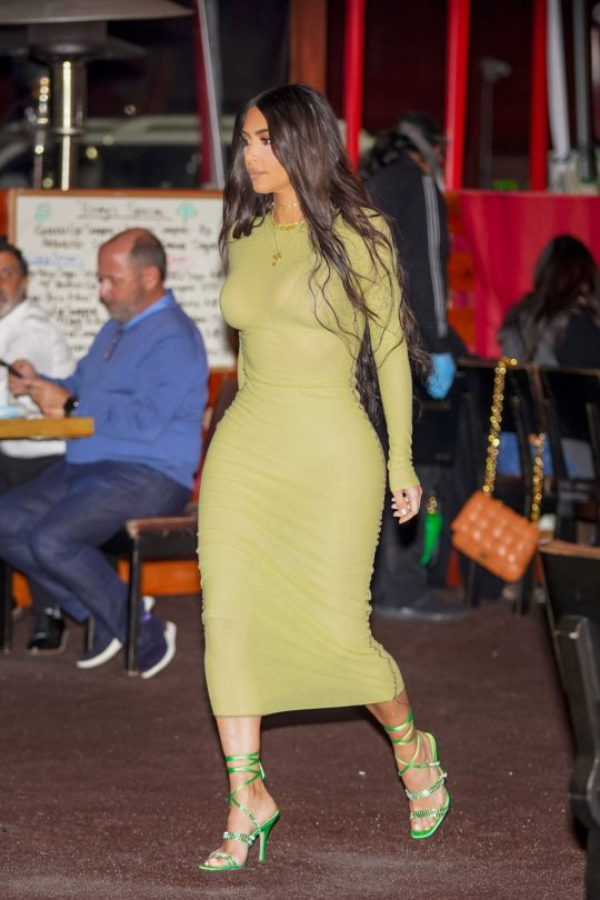 Kim Kardashian Sexy In Tight Dress