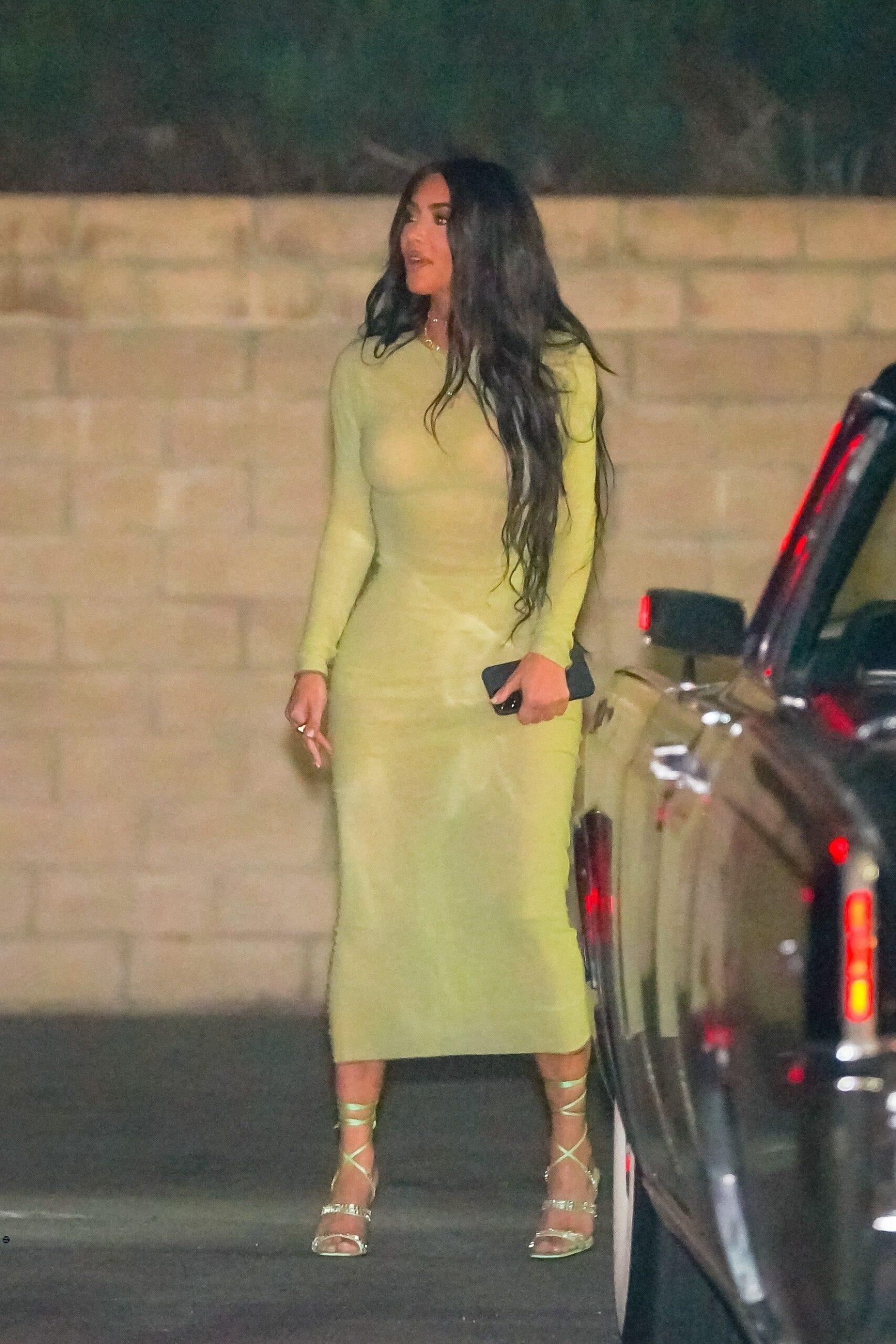 Kim Kardashian Sexy In Tight Dress