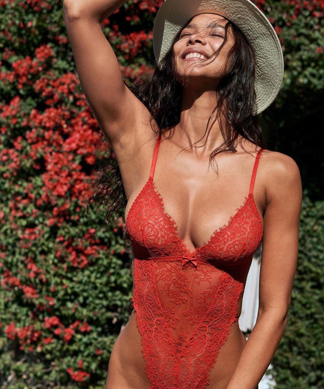 Lais Ribeiro Hot Sheer Victorias Secret Lingerie