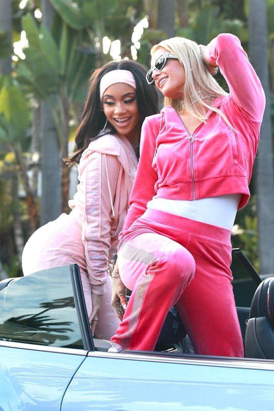 Paris Hilton Saweetie Sexy Asses