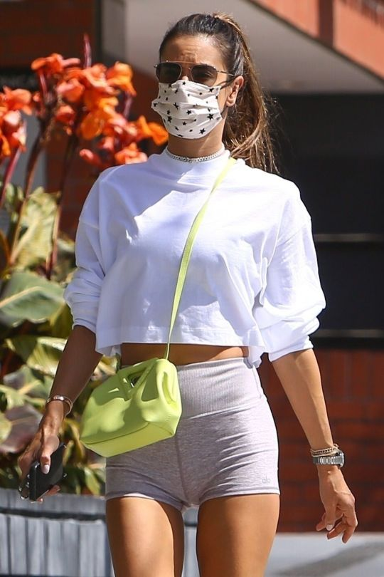 Alessandra Ambrosio Tight Shorts