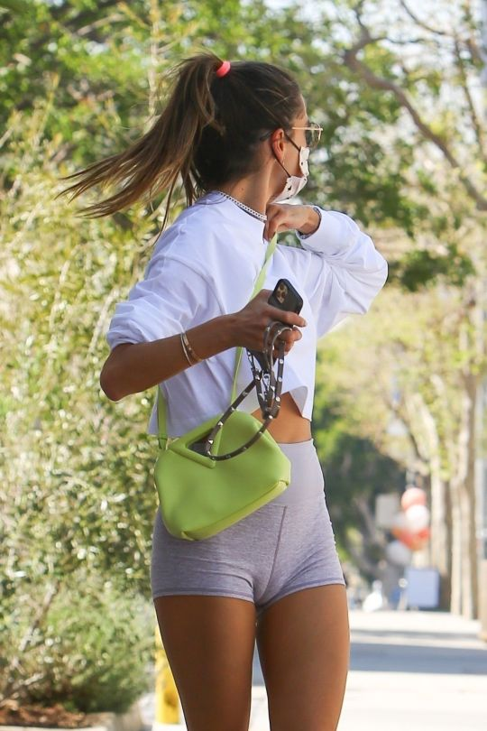 Alessandra Ambrosio Tight Shorts