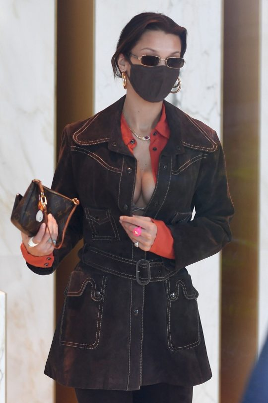 Bella Hadid Sexy Cleavage