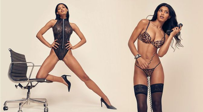 Danielle Herrington – Gorgeous Body in Sheer Lingerie for Frederick's of Hollywood Spring 2021 Photoshoot